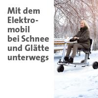 Link zur Themenwelt mit dem Elektromobil im Winter unterwegs im Sanivita Online-Shop