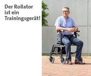 Zur Themenwelt: Der Rollator ist ein Trainingsgerät - im Sanivita Online-Shop